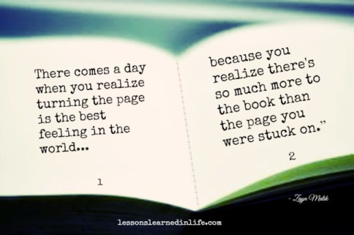 life lessons turn the page