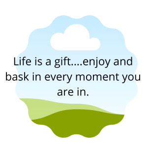 Life is a gift....enjoy and bask in every moment you are in,